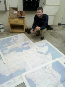1961(?) USGS Map Set at Cal State Long Beach