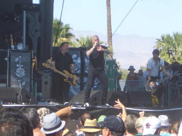 For some reason, Palm Trees and celtic punk don't mix. Dropkick Murphy's on the Coachella main stage. 4/20/13