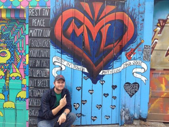 The Matty Luv memorial in Clarion Alley (Thanks to Allie S. for the photo).