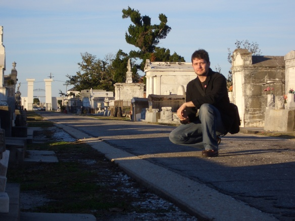 Me at Metairie Cemetery, 2008.