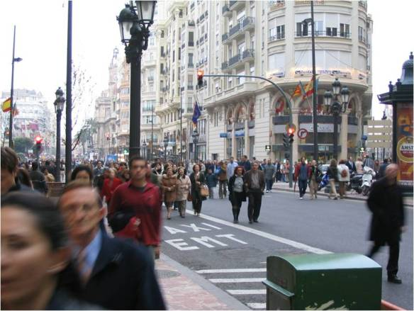 100,000 people walking to Valencia's central square in solidarity, March 12, 2004.