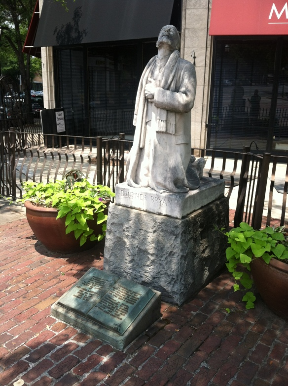 The Brother Bryan statue at Five Points, Birmingham. July 12, 2014.