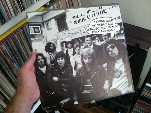 "The flip side of the dust sleeve is the other members saying ""YEAH!"" while Handsome Dick Manitoba raises his arms victoriously in the background. The photo is identical and you can't make this stuff up."