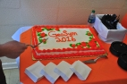 It wouldn't be GeoSym without a cake. An improvement on the Power-T one we had in 2014.