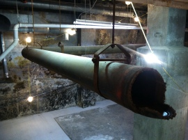 The boiler room, which from what I could tell was the lowest point in the building.