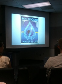"A great graphic to end Roxanne Ornelas' presentation. Roxanne is Yaqui and a devoted ""water-walker"" protecting water sovereignty at a particularly contentious time."
