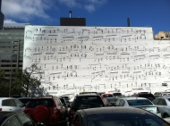 The legendary Schmitt Music mural, right around the corner from the conference. Here is a WCCO story with a bit of background: http://minnesota.cbslocal.com/2014/03/30/finding-minnesota-the-mystery-musical-mural/ Here is a photo of a young Prince in front of it: https://www.schmittmusic.com/wp-content/uploads/2016/06/prince.jpg