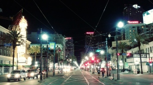 Canal Street at Night (Photo by Tyler Sonnichsen, April 2018)
