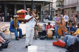 Dixieland band on Jackson Square, New Orleans, April 1998