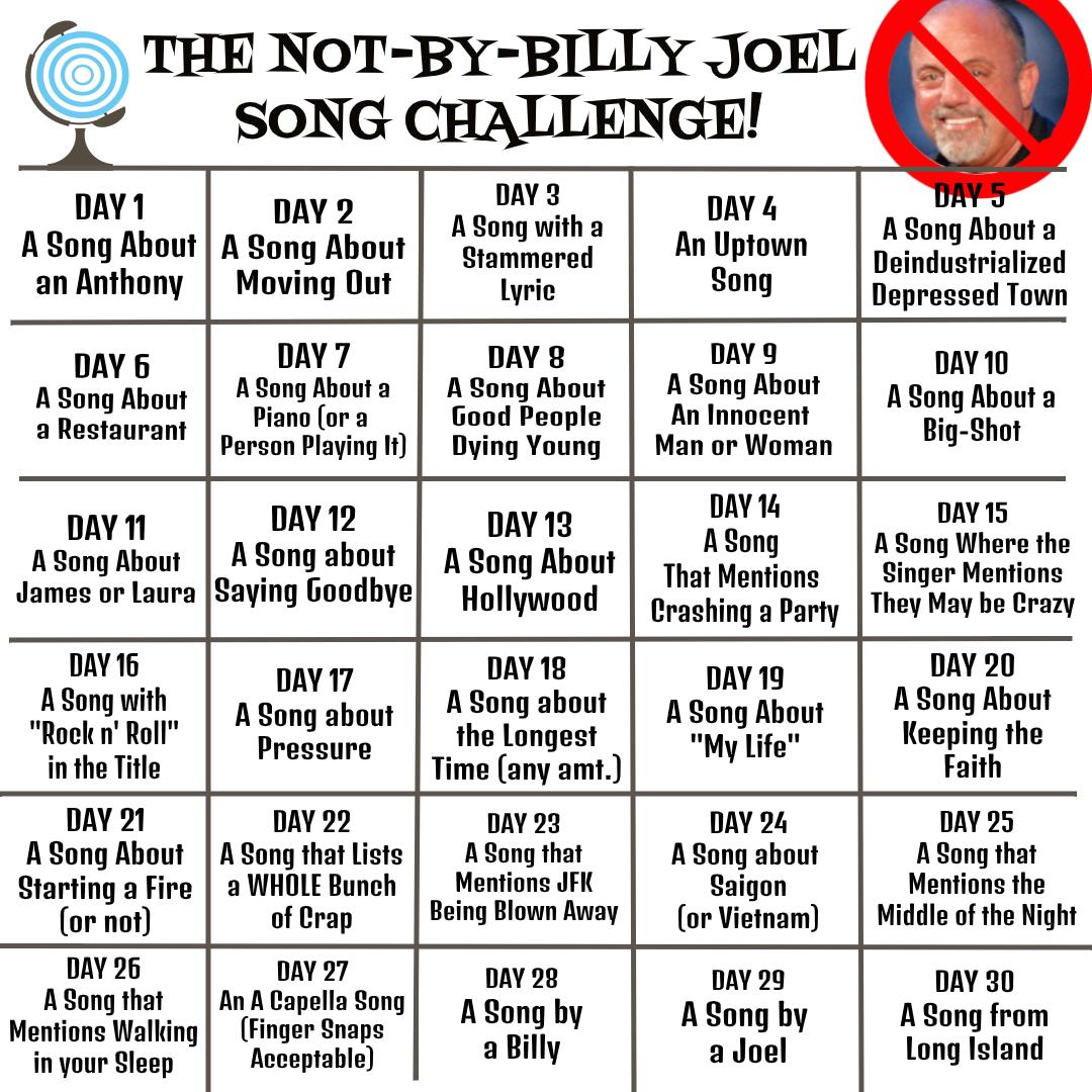NotByBillyJoelSongChallenge